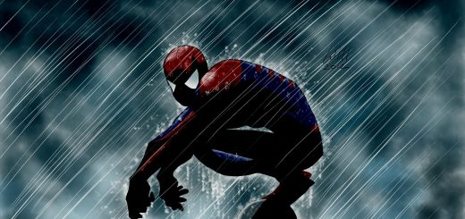 Amazing spiderman cartoon rain