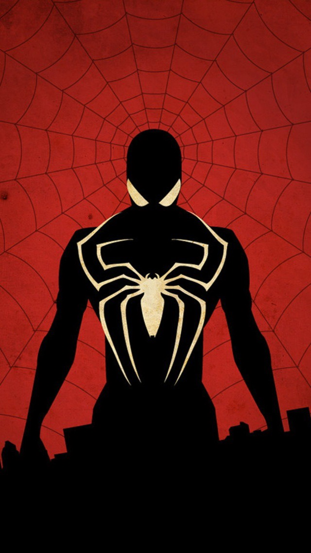 Black Suit Spiderman IPhone Wallpaper