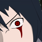 Bleeding sasuke sharingan