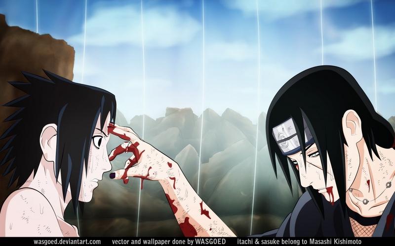 Itachi touches forehead sasuke