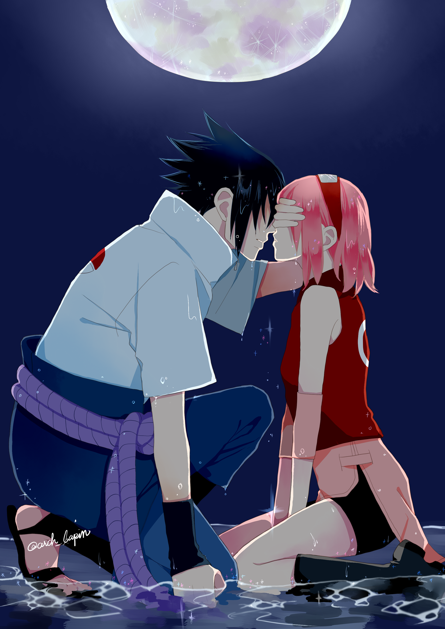 Sasuke almost kiss sakura