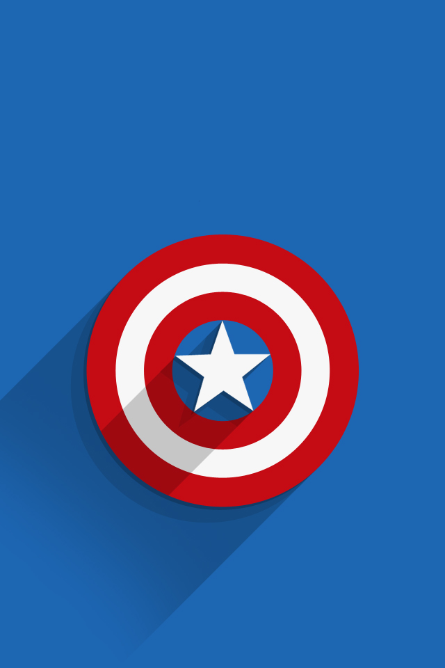 iphone7wallpapercaptainamericalogo � ios mode