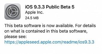 , Apple Seeds Fifth Beta of iOS 9.3.3, Mac OS X 10.11.6 El Capitan, and tvOS 9.2.2