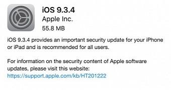 , Apple Outs iOS 9.3.4 for iPhone, iPad & iPod to Fix an Important Security Issue
