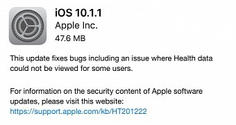 , Apple Outs iOS 10.1.1 to Address Health Data Issues, First iOS 10.2 Beta to Devs