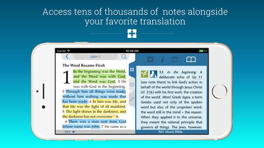 Niv study bible for iphone