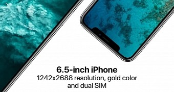 , Apple Reportedly Working on 6.5-Inch iPhone X Plus with Dual-SIM and Gold Color