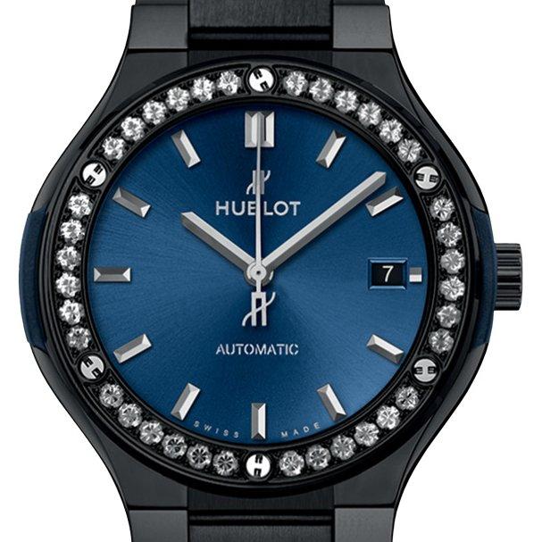 Classic fusion ceramic blue watch background