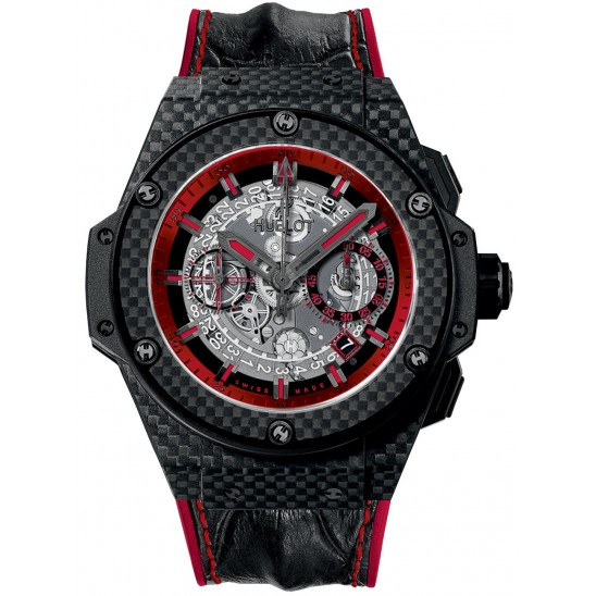 Hublot king power unico red leather strap 2018