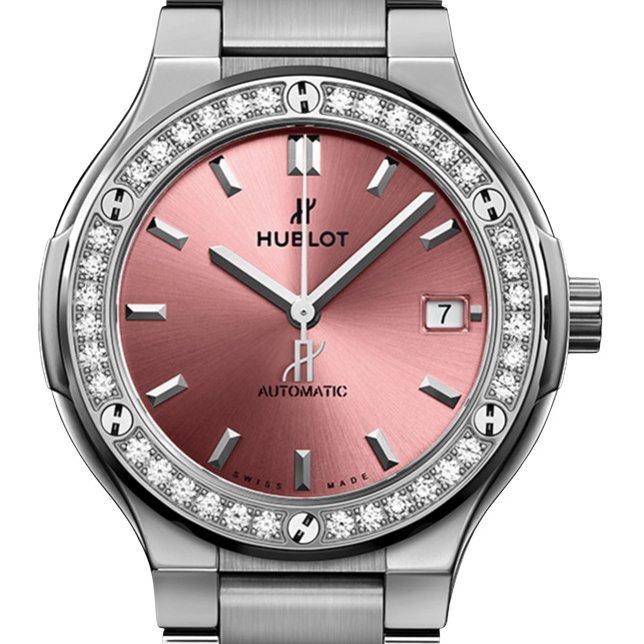 Hublot classic fusion pink watch for women