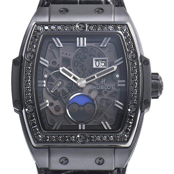 Spirit of big bang moonphase black diamonds watch