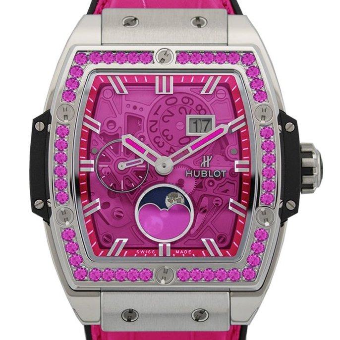 Spirit of big bang moonphase titanium pink watch