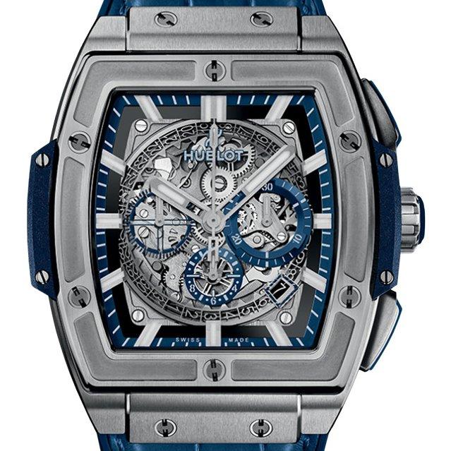 Spirit of big bang titanium blue watch