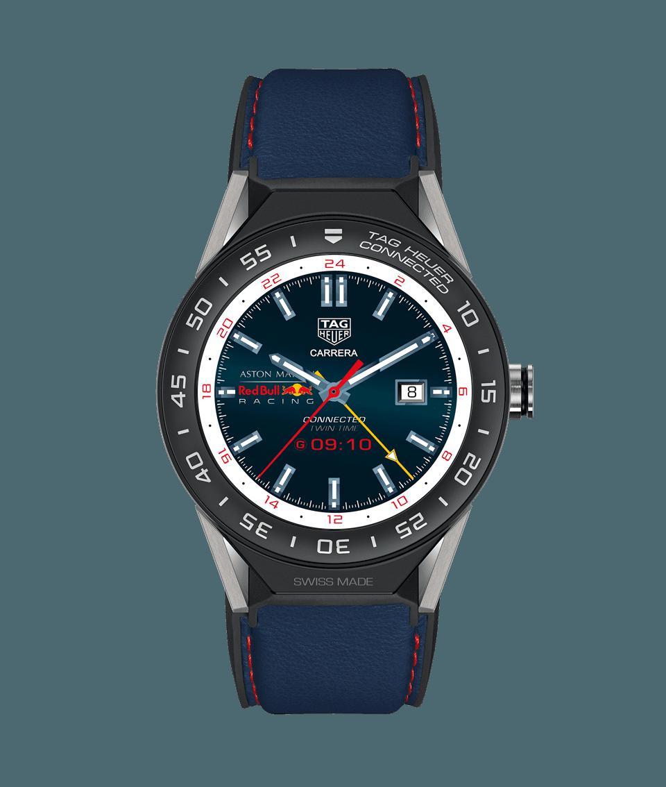 Tag Heuer Connected Modular 45 Aston Martin Red Bull Racing Watch Ios Mode