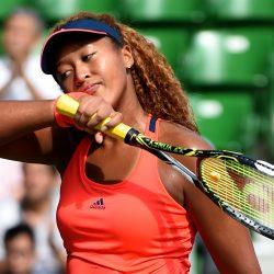 Naomi osaka sweating