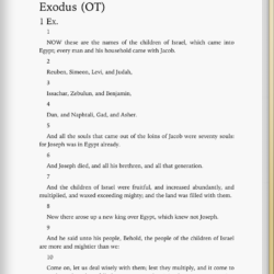 King james holy bible exodus