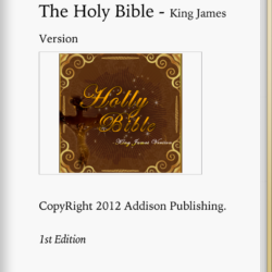 King james holy bible ebook first page
