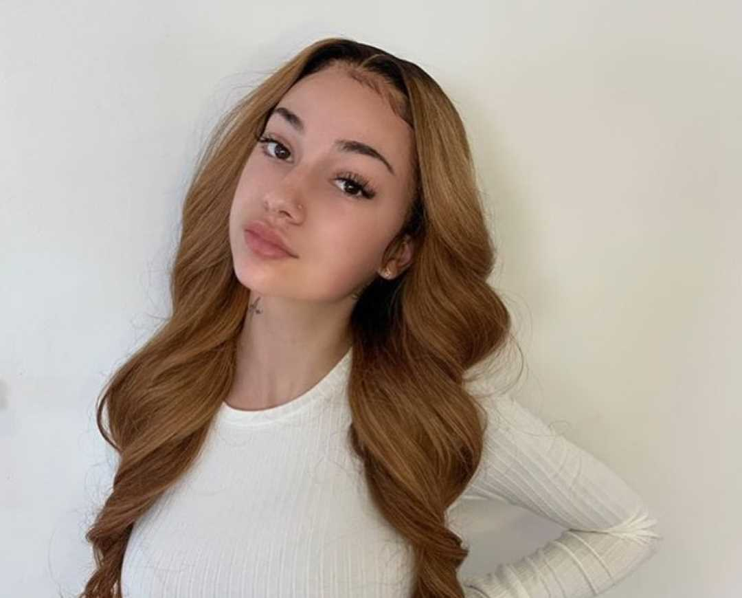 Bhad bhabie wearing lace front wig