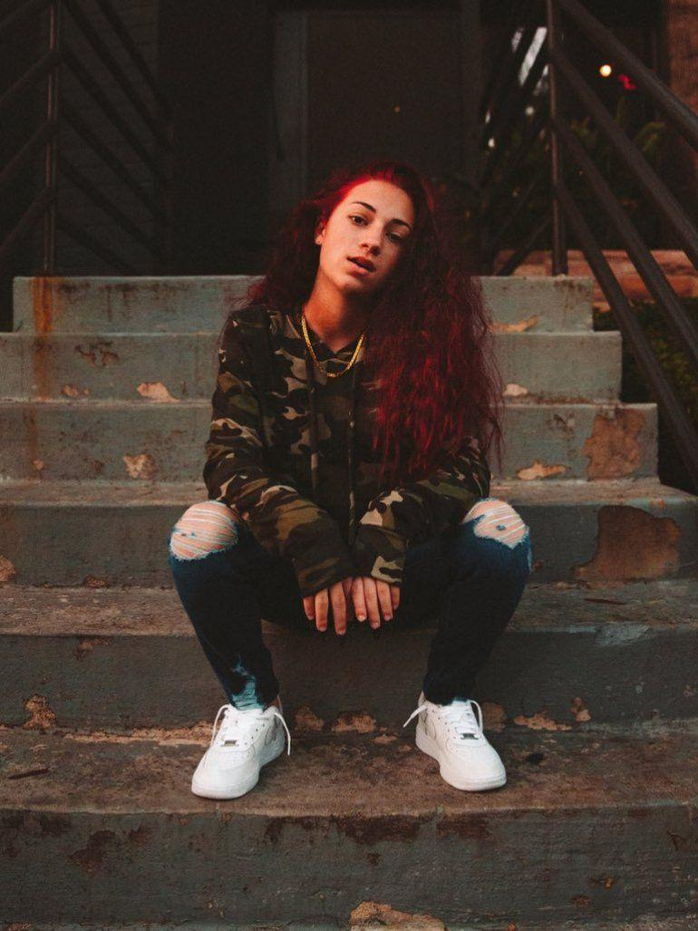 Bhad bhabie wearing nike white airforce 1