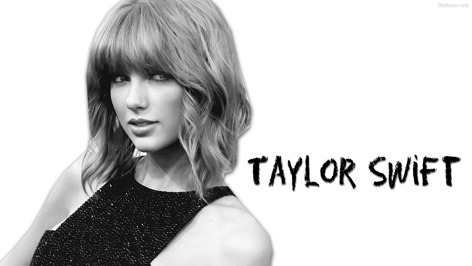 Taylor swift black and white wallpaper