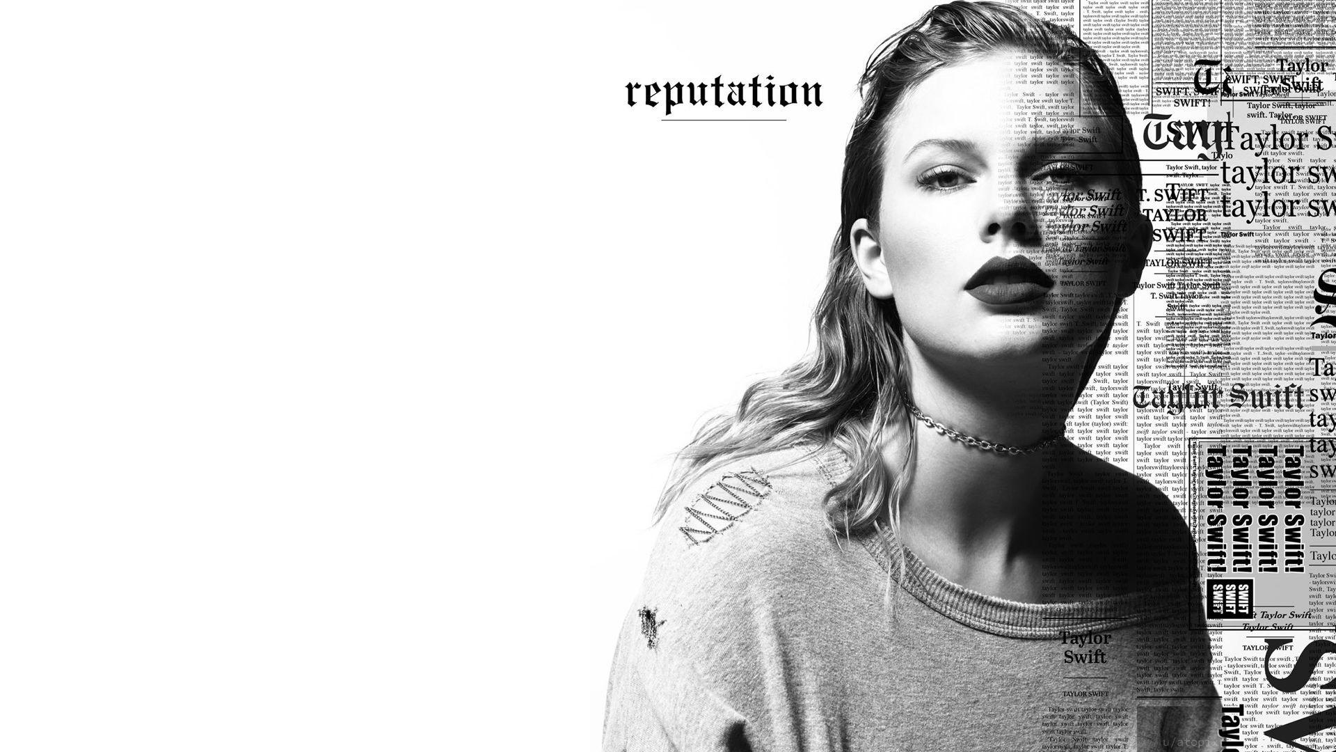 Taylor swift widescreen reputation slick hair