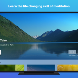 Screenshot of Calm App on Apple TV