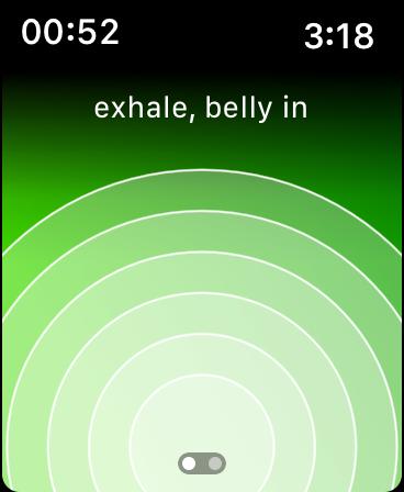 Screenshot of Calm app on Apple Watch