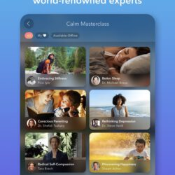 Screenshot of Calm app on iPad