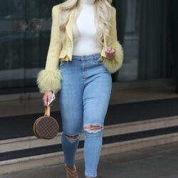 Blonde hair with jeans