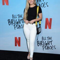 Addison rae wearing white pants