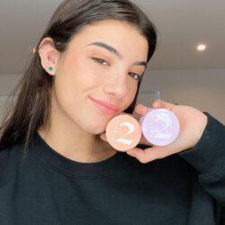 Charli damelio showing her makeup kit