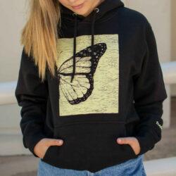 Half butterfly hoodie