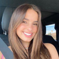 In car smiling