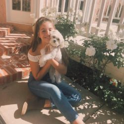 Kenzie with her dog