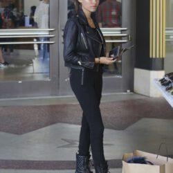 Wearing black jeans