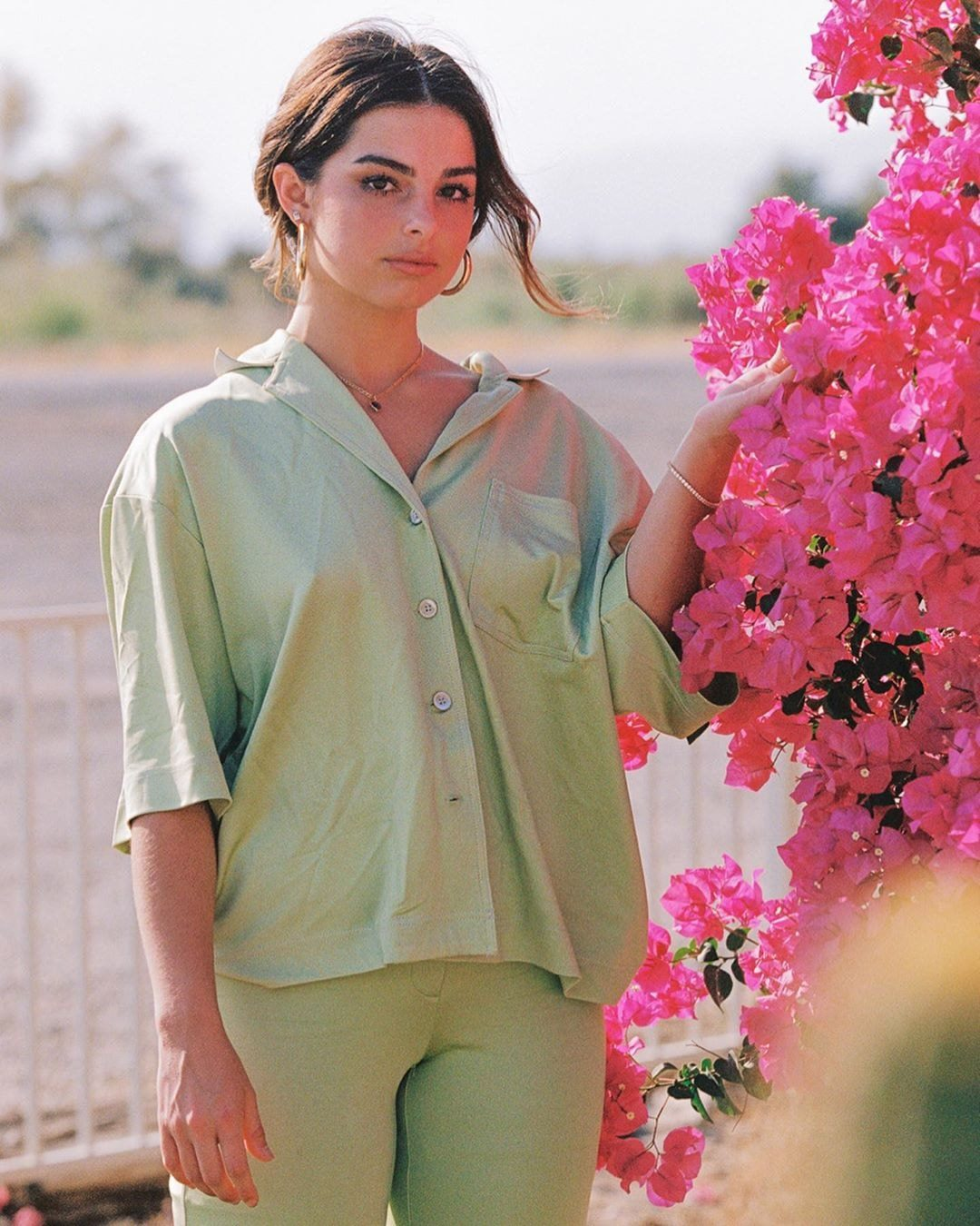 Download Addison Rae Green Outfit PNG