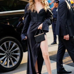 Black silk outfit