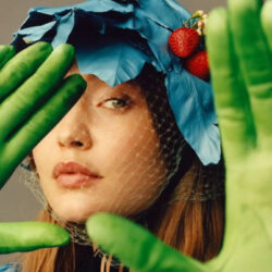 Lime green gloves
