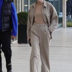 Pants suit in public