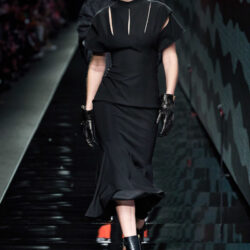 Wearing all black modeling