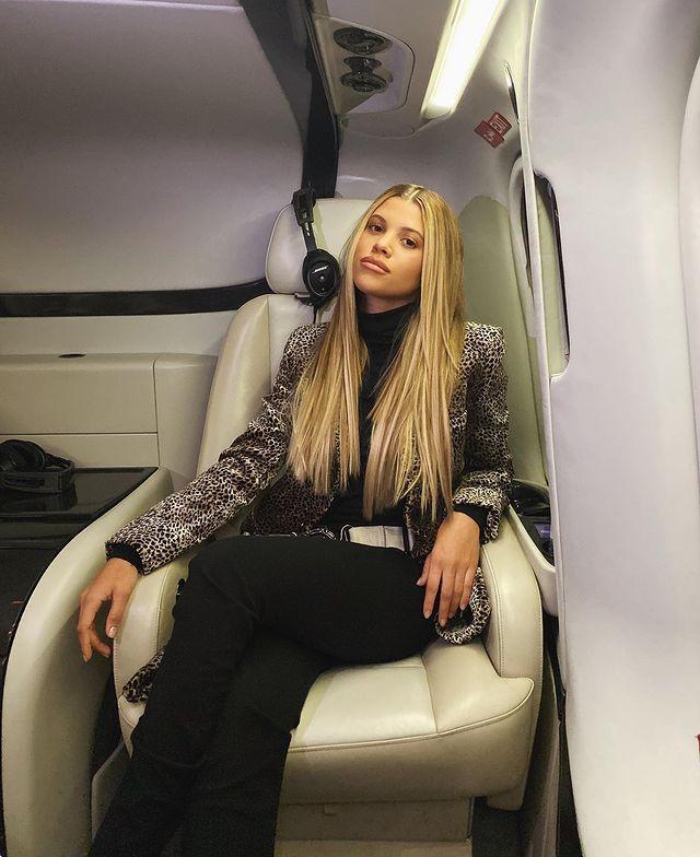 In private jet