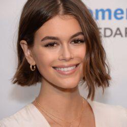 Kaia Gerber smiling