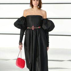 Modeling black dress