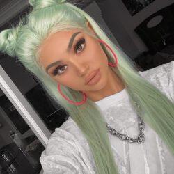 Greenish hair