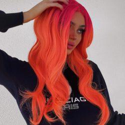 Kristen orange hair