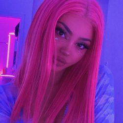 Kristen pink hair