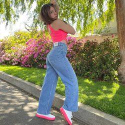 Pink lee jeans